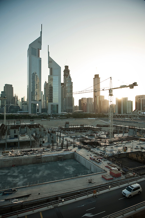 A view of the, reportedly delayed, Dubai World Trade centre district project in Dubai, UAE on February 10, 2010 Archive of images of Dubai by Dubai photographer Siddharth Siva