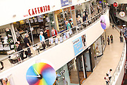 Israelis stands still at a shopping center in Tel Aviv as a 2 minute siren is sounded across Israel marking the holocaust remembrance day commemorating the six million Jews who perished in the Holocaust