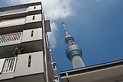 Tokyo skytree communication tower in Oshiage,Tokyo, Japan. Friday September 7th 2012
