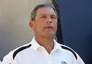 01 SEPTEMBER 2007: Iowa head coach Kirk Ferentz stands in the tunnel before Iowa's 16-3 win over Northern Illinois at Soldiers Field in Chicago, Illinois on September 1, 2007.