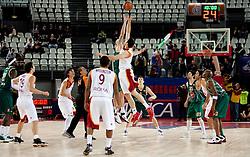 Damir Markota (22) of Olimpija during Euroleague Top 16 basketball match between Lottomatica Virtus Roma (ITA) and KK Union Olimpija Ljubljana (SLO) in Group F, on January 20, 2011 in Arena PalaLottomatica, Rome, Italy. (Photo By Vid Ponikvar / Sportida.com)