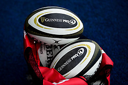 Guinness Pro 14 Match Balls prior to kick off - Mandatory by-line: Ryan Hiscott/JMP - 05/10/2019 - RUGBY - Cardiff Arms Park - Cardiff, Wales - Cardiff Blues v Edinburgh Rugby - Guinness Pro 14