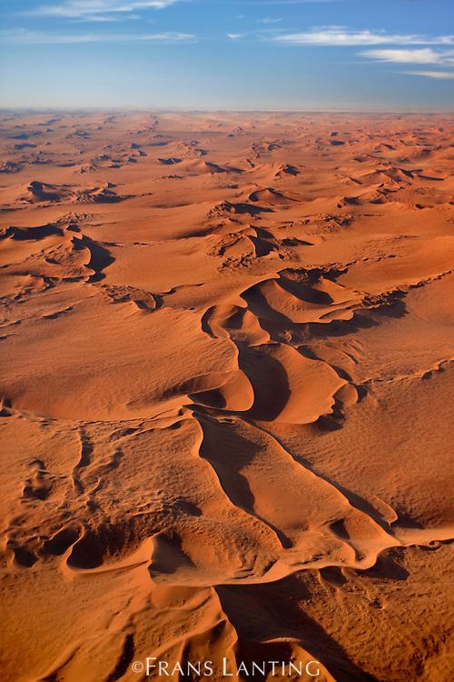 Namib sand sea (aerial), Namib-Naukluft National Park, Namibia