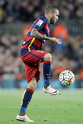 02.04.2016, Camp Nou, Barcelona, ESP, Primera Division, FC Barcelona vs Real Madrid, 31. Runde, im Bild FC Barcelona's Dani Alves // during the Spanish Primera Division 31th round match between Athletic Club and Real Madrid at the Camp Nou in Barcelona, Spain on 2016/04/02. EXPA Pictures © 2016, PhotoCredit: EXPA/ Alterphotos/ Acero<br /> <br /> *****ATTENTION - OUT of ESP, SUI*****