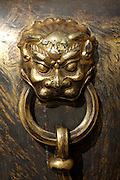 Gugong (Forbidden City, Imperial Palace). Bronze lion relief next to Baohe Dian (Hall of Preserving Harmony).