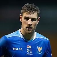 St Johnstone v Hamilton Accies…10.11.18…   McDiarmid Park    SPFL<br />David Wotherspoon wearing the Remembrance Day shirt<br />Picture by Graeme Hart. <br />Copyright Perthshire Picture Agency<br />Tel: 01738 623350  Mobile: 07990 594431