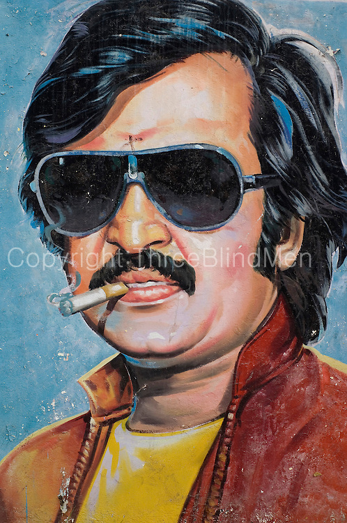 Painted actor. Tamil Nadu.