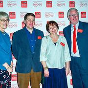 Kate Bulkley, Brian Viner, Jane Sanderson, Ross Biddicombe arrivers at the Broadcasting Press Guild TV & Radio Awards, at Banking Hall, on 13th March 2020, London, UK