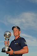 Luke Donald with the trophy following his victory in the Transitions Chapionship on the Cooperhead Course at Innisbrook Resort and Golf Club on March 18, 2012 in Palm Harbor, Fla. ..©2012 Scott A. Miller.