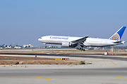 Israel, Ben-Gurion international Airport Continental Airlines Boeing landing