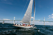 Wild Horses sailing in the Panerai Newport Classic Yacht Regatta, day two.