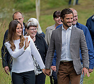 Karlstad, 26-08-2015<br /> <br /> Prince Carl Philip and Princess Sofia&rsquo;s official visit to Varmland<br /> <br /> Visit forrest path<br /> <br /> <br /> Photo:Royalportraits Europe/Bernard Ruebsamen