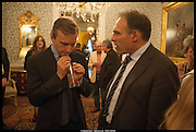ANTHONY LANE; PETER STRAUS, launch of Sophie Hannah's Agatha Christie ' The Monogram Murders ' at the Ritz London. 8 September 2014