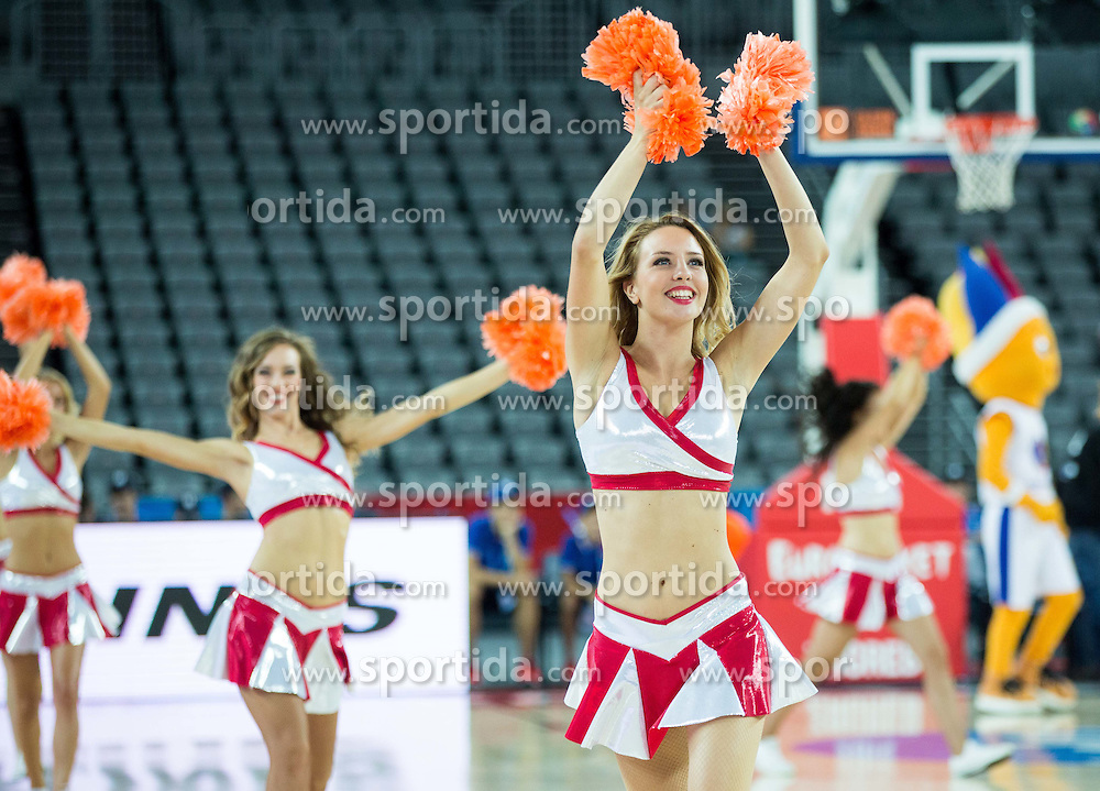 Cheerleaders perform during basketball match between Slovenia and Georgia at Day 2 in Group C of FIBA Europe Eurobasket 2015, on September 6, 2015, in Arena Zagreb, Croatia. Photo by Vid Ponikvar / Sportida