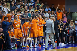 Players of KK Helios during basketball match between KK Zlatorog and KK Helios Suns in 4th match of Nova KBM Slovenian Champions League Final 2015/16 on June 5, 2016 in Dvorana Komunalnega centra, Domzale, Slovenia Photo by Grega Valancic / Sportida