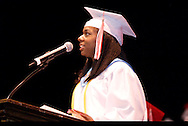 Salutatorian Stacee Ransom-Roscoe speaks during the Trotwood-Madison High School Commencement at the Victoria Theatre in downtown Dayton, Tuesday, June 1, 2010.