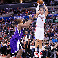 25 October 2013: Los Angeles Clippers power forward Blake Griffin (32) takes a jumpshot during the Sacramento Kings 110-100 victory over the Los Angeles Clippers at the Staples Center, Los Angeles, California, USA.