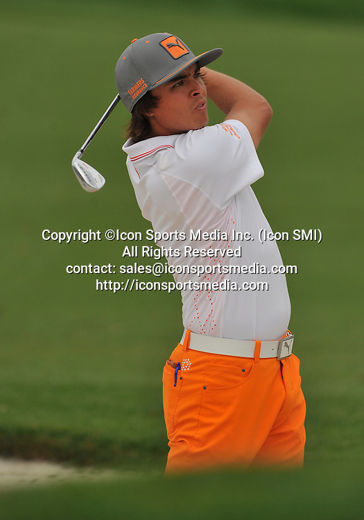 24 March 2013: Rickie Fowler sand trap on the 1st during the final round of the Arnold Palmer Invitational at Arnold Palmer's Bay Hill Club & Lodge in Orlando, Florida.