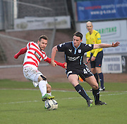 Hamilton&rsquo;s Tony Andreu and Dundee's Stephen McGinn -  Dundee v Hamilton Academical, SPFL Premiership at Dens Park <br /> <br /> <br />  - &copy; David Young - www.davidyoungphoto.co.uk - email: davidyoungphoto@gmail.com