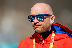 March 17, 2018 - Pyeongchang, SOUTH KOREA - 180317 Martin Hafsahl, press attachŽ of Norway, after the men's 10 km visually impaired cross-country skiing during day eight of the 2018 Winter Paralympics on March 17, 2018 in Pyeongchang..Photo: Vegard Wivestad GrÂ¿tt / BILDBYRN / kod VG / 170134 (Credit Image: © Vegard Wivestad Gr¯Tt/Bildbyran via ZUMA Press)