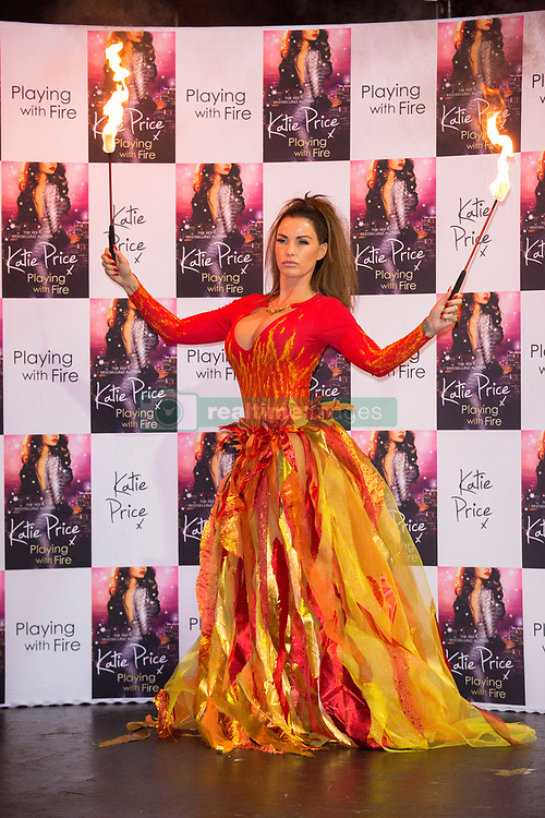 Katie Price Photocall for her new novel, Playing With Fire. The Worx, Parsons Green, London, UK.<br />