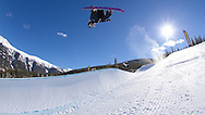 Chloe Kim switch method at Copper Mountain in Copper Mountain, CO. ©Brett Wilhelm/ESPN