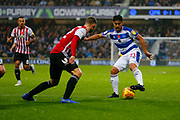 Rangers Midfielder Massimo Luongo during the EFL Sky Bet Championship match between Queens Park Rangers and Brentford at the Loftus Road Stadium, London, England on 10 November 2018.