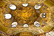 Ceiling of the national bibliotheque in Vienna, Austria