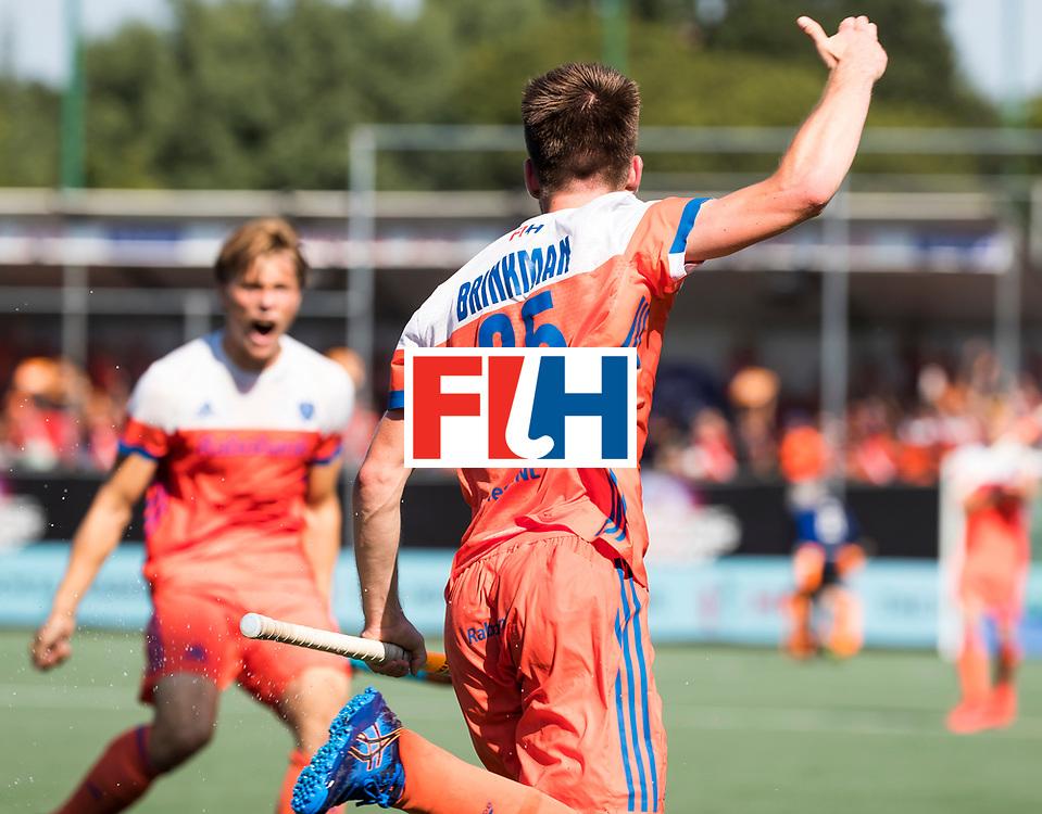 BREDA - Thierry Brinkman (Ned) heeft de stand op  1-1  gebracht tijdens Nederland- India (1-1) bij  de Hockey Champions Trophy. India plaatst zich voor de finale.    COPYRIGHT KOEN SUYK