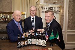 17/12/2015<br /> 17 December 2015<br /> Pictured at The Ireland - U.S. Council Holiday Season Member - Guest Reception at the InterContinental Hotel, Dublin were (L-R):<br /> Tony Leonard, Clarendon Properties;<br /> Alan Leonard, Claredon Properties<br /> and Kevin Tuck, Alltech.
