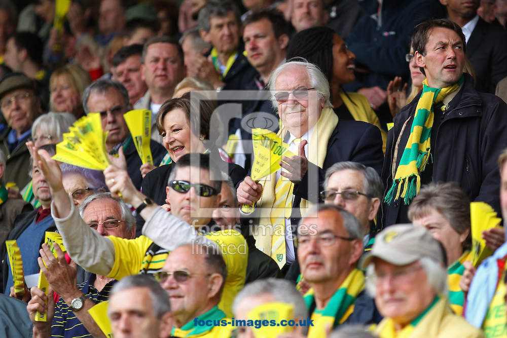 Picture by Paul Chesterton/Focus Images Ltd +44 7904 640267.12/05/2013.Norwich City's Joint Majority Shareholder Delia Smith and her husband Michael Wynn Jones before the Barclays Premier League match at Carrow Road, Norwich.