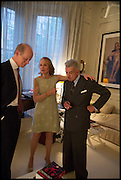 JOHN WATTS; EVA DUGDALE-PENOT; NICKY HASLAM, Nicky Haslam hosts a party to launch a book by  Maureen Footer 'George Stacey and the Creation of American Chic' . With a foreword by Mario Buatta. Kensington. London. 11 June 2014
