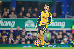 LIVERPOOL, ENGLAND - Tuesday, December 13, 2016: Arsenal's Laurent Koscielny in action against Everton during the FA Premier League match at Goodison Park. (Pic by David Rawcliffe/Propaganda)