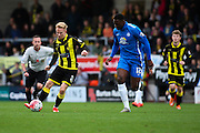 Burton Albion forward Mark Duffy heads for gaol during the The FA Cup match between Burton Albion and Peterborough United at the Pirelli Stadium, Burton upon Trent, England on 7 November 2015. Photo by Aaron Lupton.
