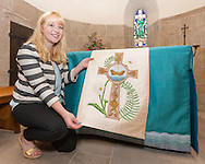 Lucy Deady, QMU, with her alter cloth.
