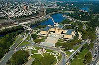 Aerial view of Philadelphia Art Museum, Pennsylvania
