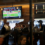 An exclusive entertainment area in Yankee Stadium during the New York Yankees Vs Toronto Blue Jays season opening day at Yankee Stadium, The Bronx, New York. 6th April 2015. Photo Tim Clayton