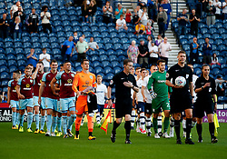 Burnley and Preston players walk out prior to kick off - Mandatory by-line: Matt McNulty/JMP - 25/07/2017 - FOOTBALL - Deepdale Stadium - Preston, England - Preston North End v Burnley - Pre-Season friendly