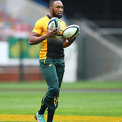 Lukhanyo Am of South Africa during the South African - Springbok Captain's Run at DHL Newlands Stadium. Cape Town.South Africa. 22,06,2018 23,06,2018 Photo by (Steve Haag JMP)