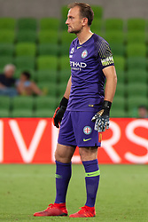 January 11, 2019 - Melbourne, VIC, U.S. - MELBOURNE, VIC - JANUARY 11: Melbourne City goalkeeper Eugene Galekovic (18) watches on at the Hyundai A-League Round 13 soccer match between Melbourne City FC and Brisbane Roar FC at AAMI Park in VIC, Australia 11th January 2019. (Photo by Speed Media/Icon Sportswire) (Credit Image: © Speed Media/Icon SMI via ZUMA Press)