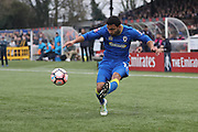 AFC Wimbledon striker Andy Barcham (17)  during The FA Cup match between Sutton United and AFC Wimbledon at Gander Green Lane, Sutton, United Kingdom on 7 January 2017. Photo by Stuart Butcher.