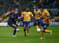 Bristol Rovers' John-Joe OToole shoots at goal - Photo mandatory by-line: Matt Bunn/JMP - Tel: Mobile: 07966 386802 12/10/2013 - SPORT - FOOTBALL - Field Mill - Mansfield - Mansfield Town V Bristol Rovers - Sky Bet League 2