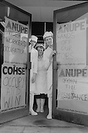 Workers occupy the cook/freeze plant at St Nicholas Hospital in their fight against job cuts, Newcastle on Tyne. 13/02/1986.