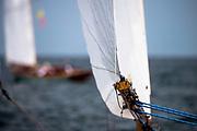 Serendipity, Alerion Class, sailing in the Opera House Cup regatta.