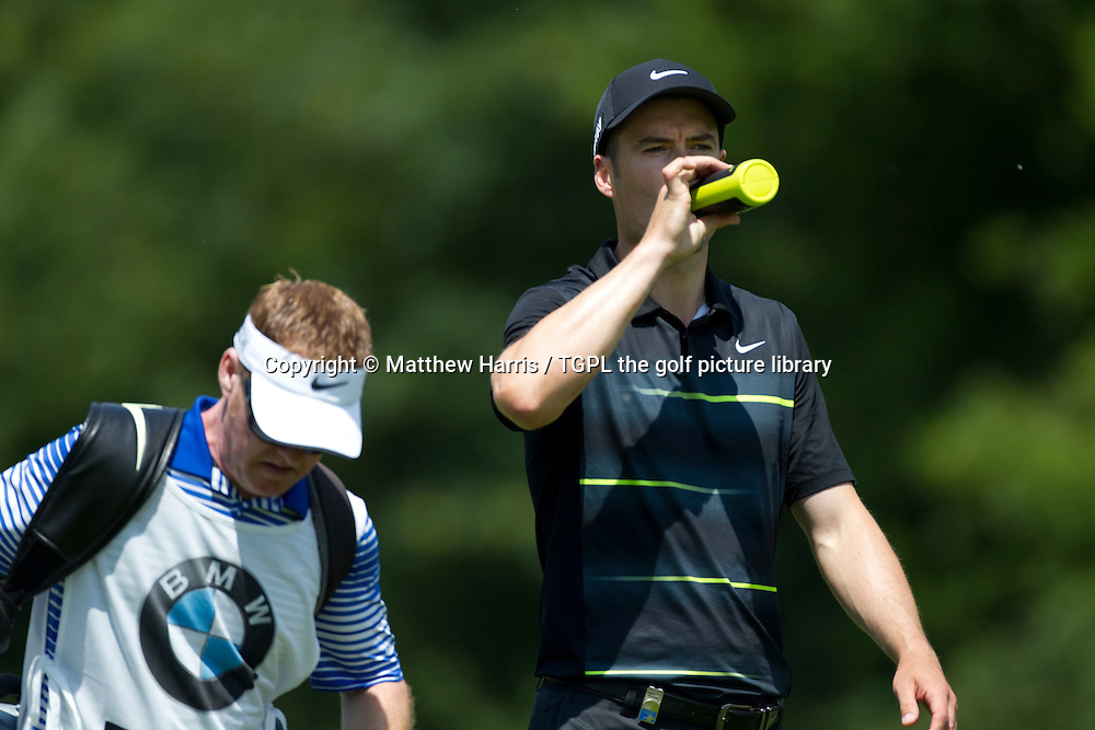 Ross FISHER (ENG) takes on water during fourth round BMW International Open 2015,Golfclub Munchen Eichenied,Munich,Germany