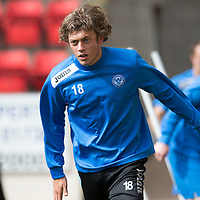 St Johnstone Training...30.08.13<br /> Murray Davidson pictured in training this morning at McDiarmid Park ahead of tomorrow's game at Aberdeen.<br /> Picture by Graeme Hart.<br /> Copyright Perthshire Picture Agency<br /> Tel: 01738 623350  Mobile: 07990 594431