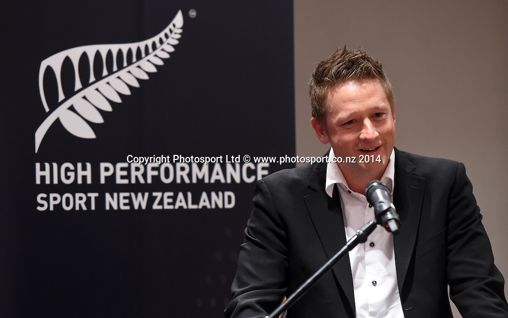 Football Ferns coach Tony Readings. High Performance Sport New Zealand Coach Recognition Dinner, Waipuna Lodge, Auckland, New Zealand. Thursday 2 October 2014. Photo: Andrew Cornaga / www.photosport.co.nz