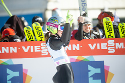KLINEC Ema celebrates after Day 1 of FIS Ski Jumping World Cup Ladies Ljubno 2020, on February 22th, 2020 in Ljubno ob Savinji, Ljubno ob Savinji, Slovenia. Photo by Matic Ritonja / Sportida
