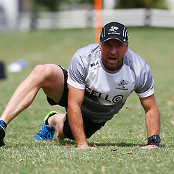 DURBAN, SOUTH AFRICA, 8 September, 2016 -Johan Pretorius Head Strength & Conditioning Coach during The Cell C Sharks training session at Growthpoint Kings Park in Durban, South Africa. (Photo by Steve Haag)<br /> <br /> images for social media must have consent from Steve Haag