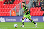 Forest Green Rovers Dominic Bernard(3) on the ball during the EFL Sky Bet League 2 match between Exeter City and Forest Green Rovers at St James' Park, Exeter, England on 12 October 2019.